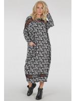 Сукня «Бігольд» чорно-білий принт