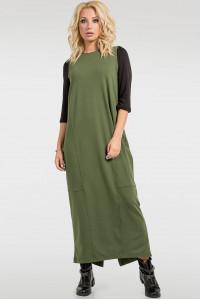 Платье «Муран» цвета хаки