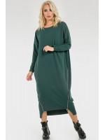 Платье «Морган» темно-зеленого цвета