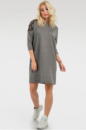 Платье «Клэрисс» темно-серого цвета