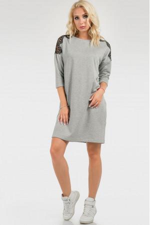 Платье «Клэрисс» светло-серого цвета
