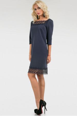 Платье «Марси» темно-синего цвета