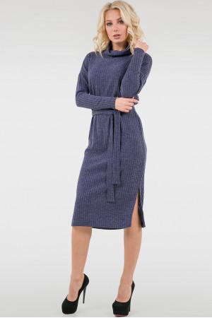 Платье «Владлена-зима» синего цвета
