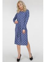 Платье «Владлена-весна» цвета джинс