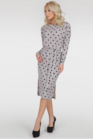 Платье «Владлена-весна» серого цвета