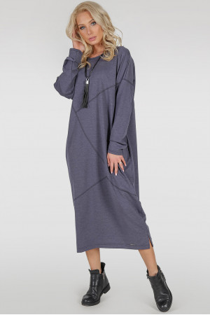Платье «Диша-фирт» цвета джинс