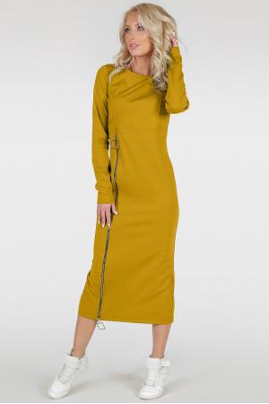 Платье «Астрид-весна» горчичного цвета
