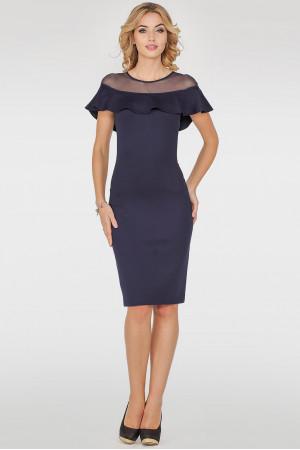 Платье «Дижона» темно-синего цвета