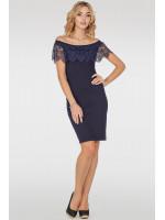Платье «Фрайм» темно-синего цвета