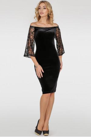 Платье «Джанин» черного цвета