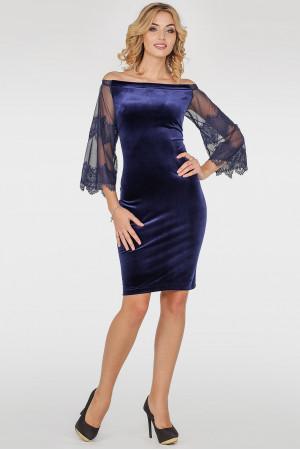 Платье «Джеральдин» синего цвета