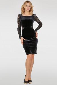 Платье «Кейли» черного цвета