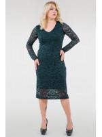 Платье «Стелла» темно-зеленого цвета