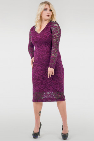 Платье «Стелла» фиолетового цвета
