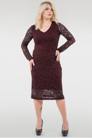 Платье «Стелла» бордового цвета