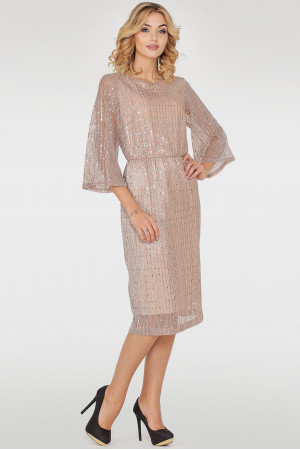 Платье «Глевис» золотистого цвета