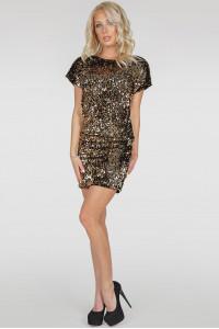 Платье «Шанталь» золотистого цвета