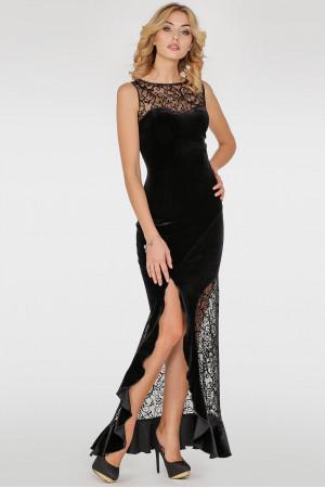 Платье «Лея» черного цвета