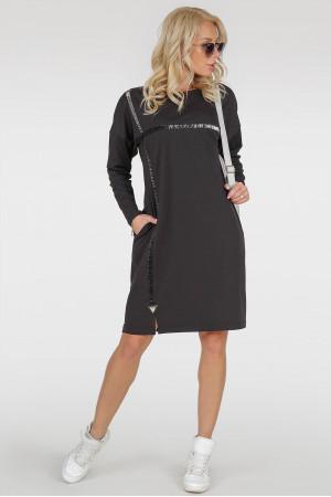 Платье «Марон-плюс» черного цвета