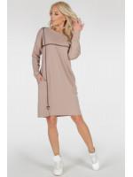 Платье «Марон» бежевого цвета