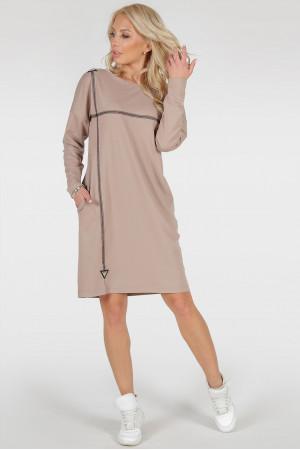Сукня «Марон» бежевого кольору