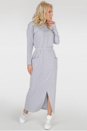 Платье «Ольвия» светло-серого цвета