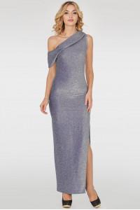 Платье «Даниэль» серебристо-синего цвета