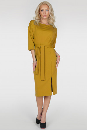 Платье «Савоярди» горчичного цвета