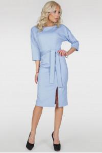 Платье «Савоярди» серо-голубого цвета