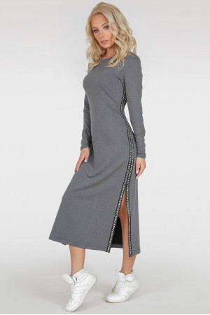 Платье «Вилима» темно-серого цвета
