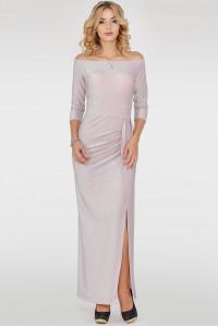 Платье «Габриэль» серебристо-розового цвета