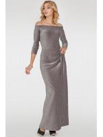 Платье «Габриэль» серебристо-бордового цвета