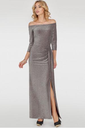 Сукня «Габріель» сріблясто-бордового кольору
