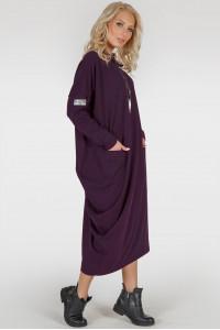 Платье «Клион» цвета марсала