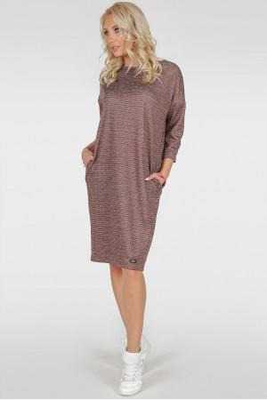 Платье «Лойс» бордовый тон