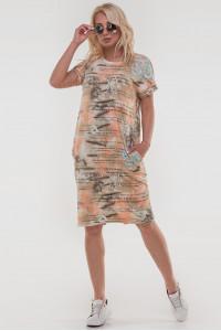 Платье «Арета» коричнево-оранжевого цвета