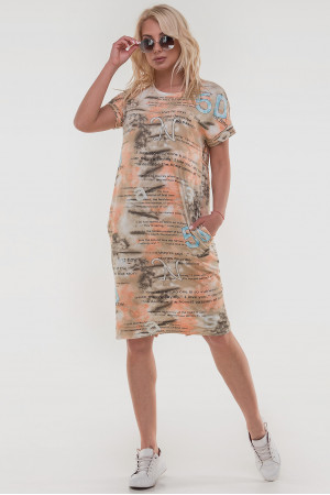 Сукня «Арета» коричнево-помаранчевого кольору