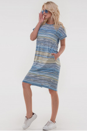 Платье «Арета» желтого с голубым цвета
