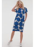 Платье «Арета» синего с белым цвета