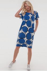 Сукня «Арета» синього з білим кольору
