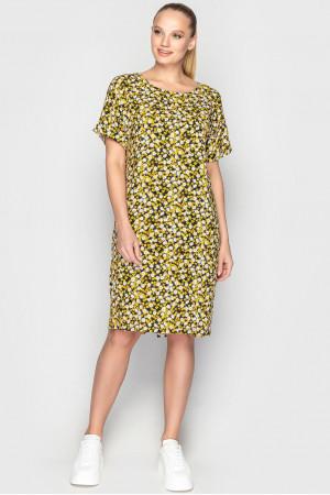Платье «Арета» черно-желтого цвета