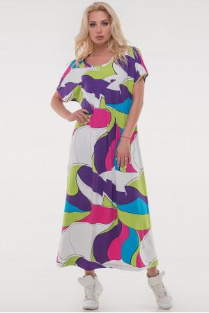 Сукня «Трюдо» малинового кольору з блакитним