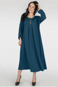 Сукня «Калхида» кольору темної морської хвилі