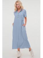 Платье «Адди» серо-голубого цвета