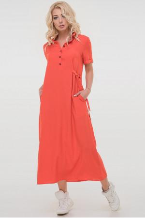 Платье «Адди» кораллового цвета