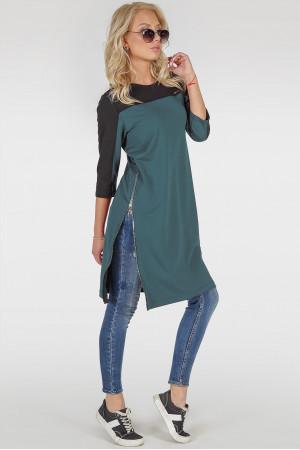 Платье-туника «Эри» цвета морской волны
