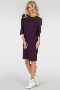 Платье-туника «Эри» цвета марсала