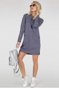 Платье «Лотти» цвета джинс