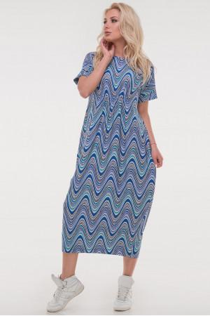 Платье «Парнас» синий тон