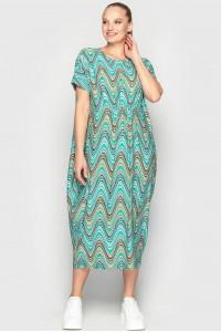 Платье «Парнас» с бирюзовым принтом